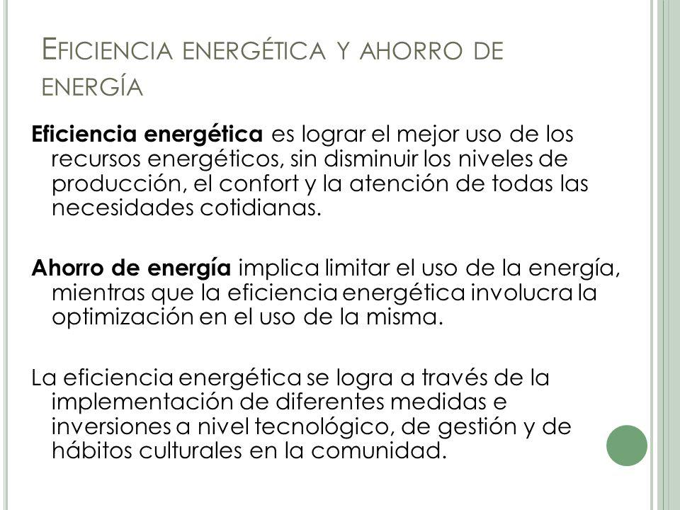 Eficiencia energética y ahorro de energía