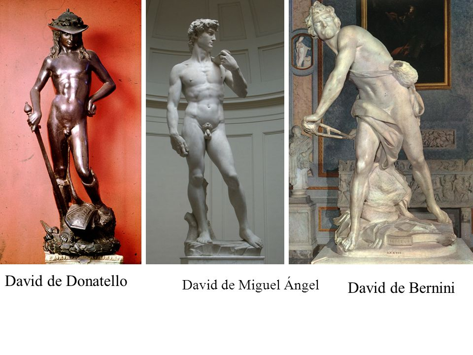 David de Bernini David de Donatello David de Miguel Ángel