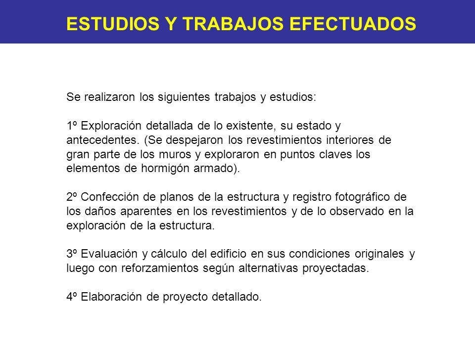 ESTUDIOS Y TRABAJOS EFECTUADOS