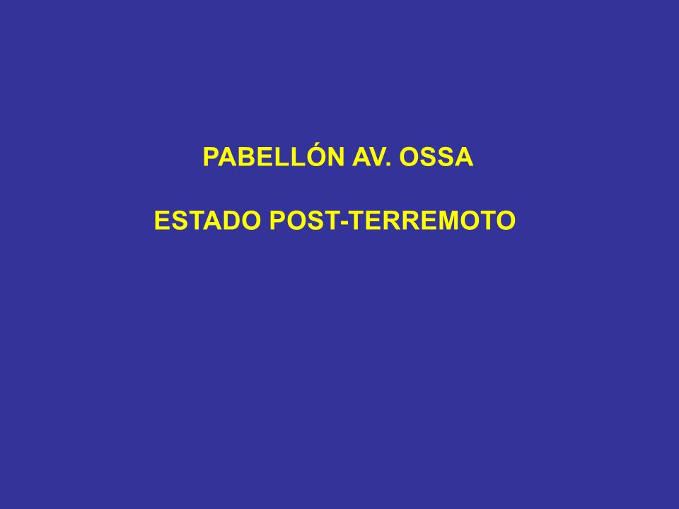 ESTADO POST-TERREMOTO