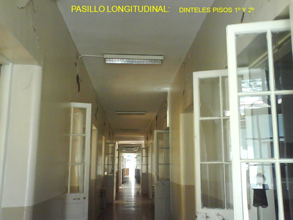 PASILLO LONGITUDINAL: