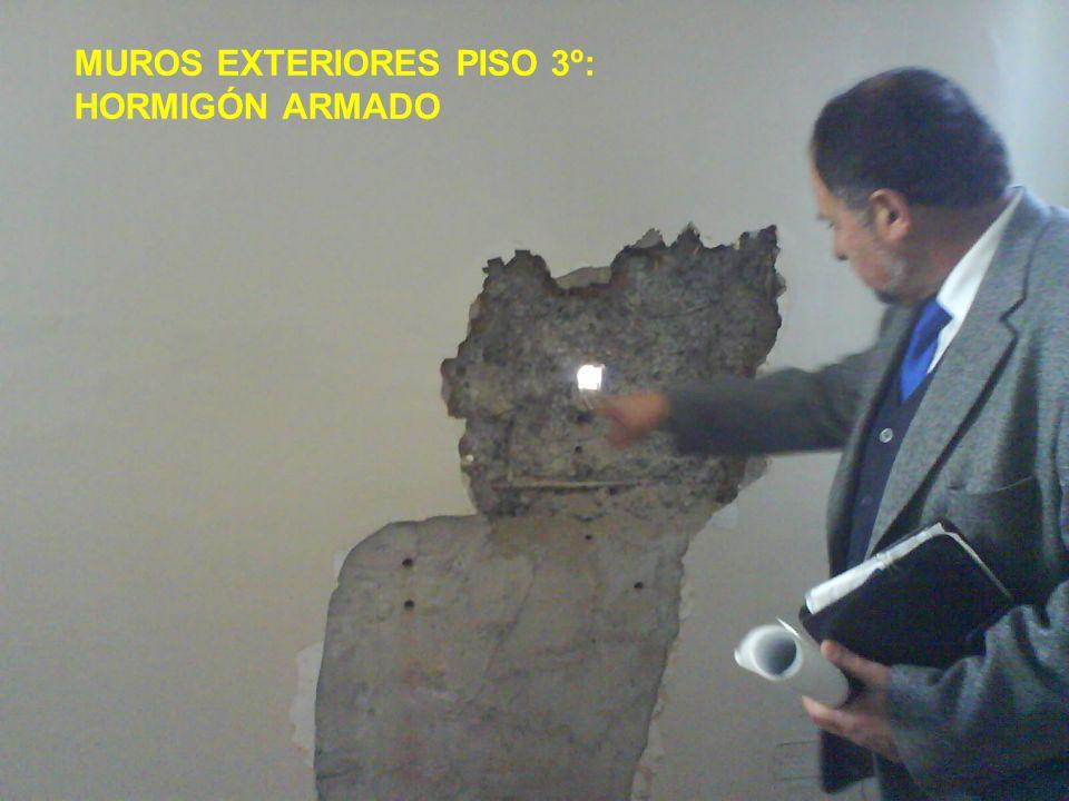 MUROS EXTERIORES PISO 3º: