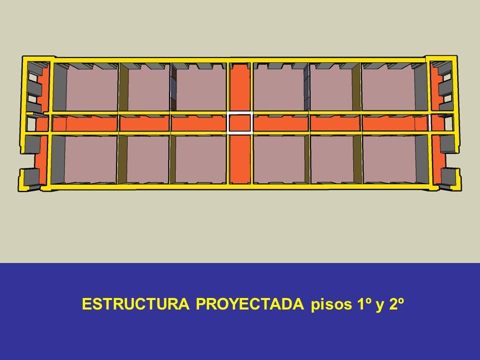 ESTRUCTURA PROYECTADA pisos 1º y 2º