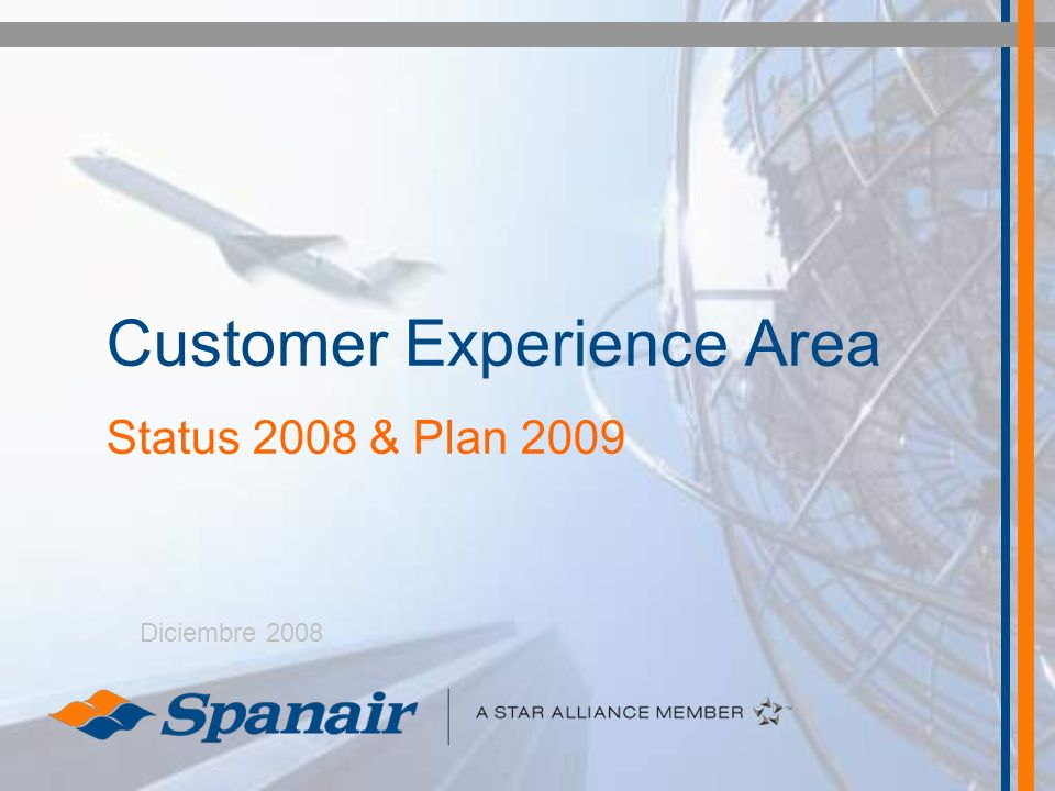 Customer Experience Area Status 2008 & Plan 2009