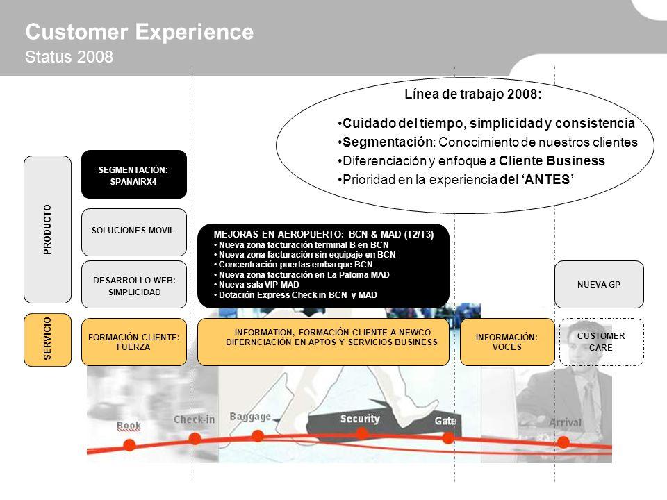 Customer Experience Status 2008