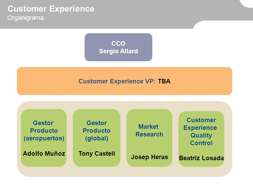 Customer Experience VP: TBA