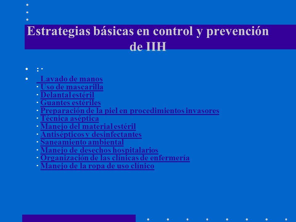 Estrategias básicas en control y prevención de IIH