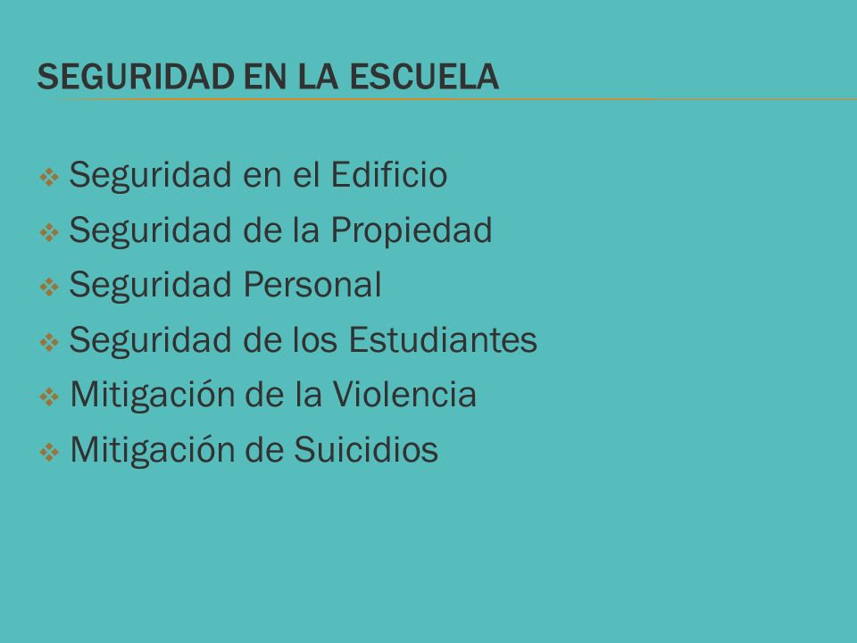 SEGURIDAD EN LA ESCUELA