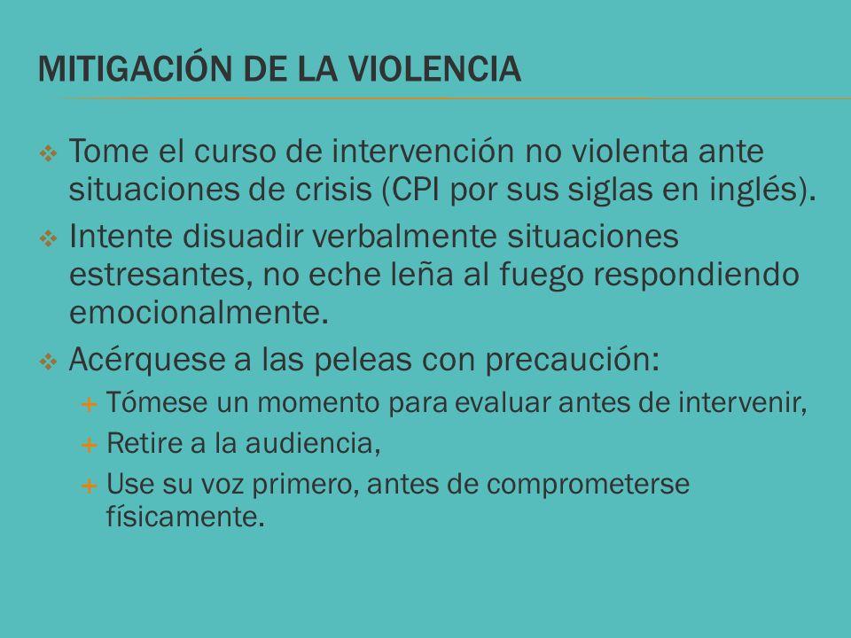 Mitigación de la violencia