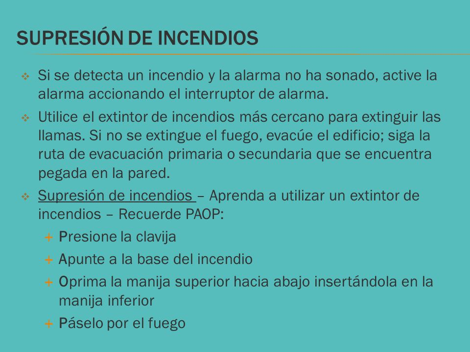 SUPRESIÓN DE INCENDIOS