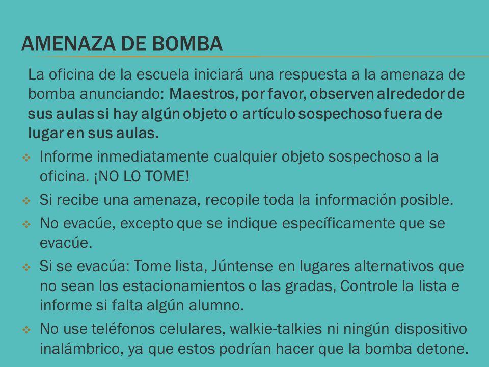 AMENAZA DE BOMBA