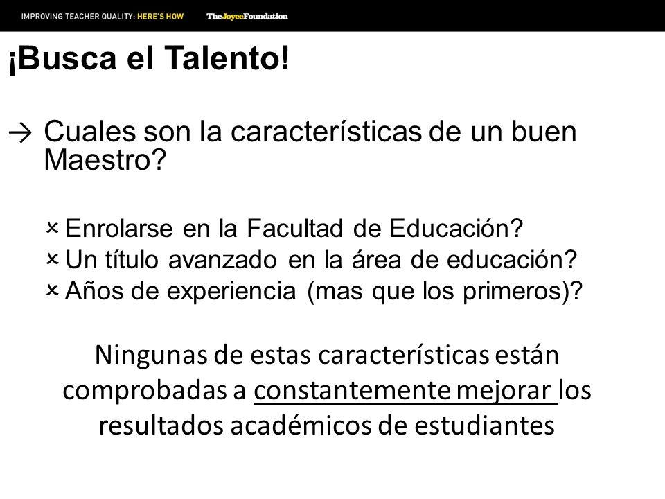 ¡Busca el Talento! Cuales son la características de un buen Maestro