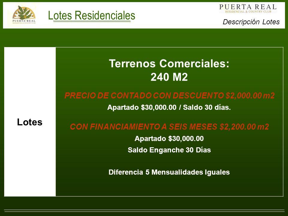 Lotes Residenciales Terrenos Comerciales: 240 M2 Lotes