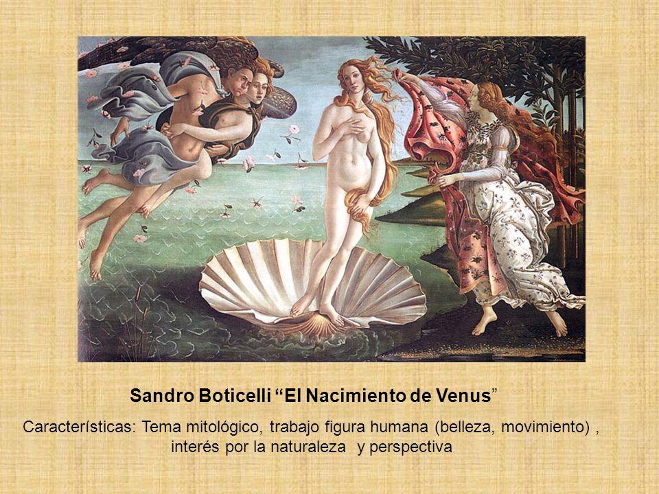 Sandro Boticelli El Nacimiento de Venus