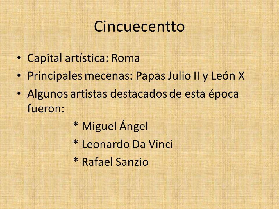Cincuecentto Capital artística: Roma