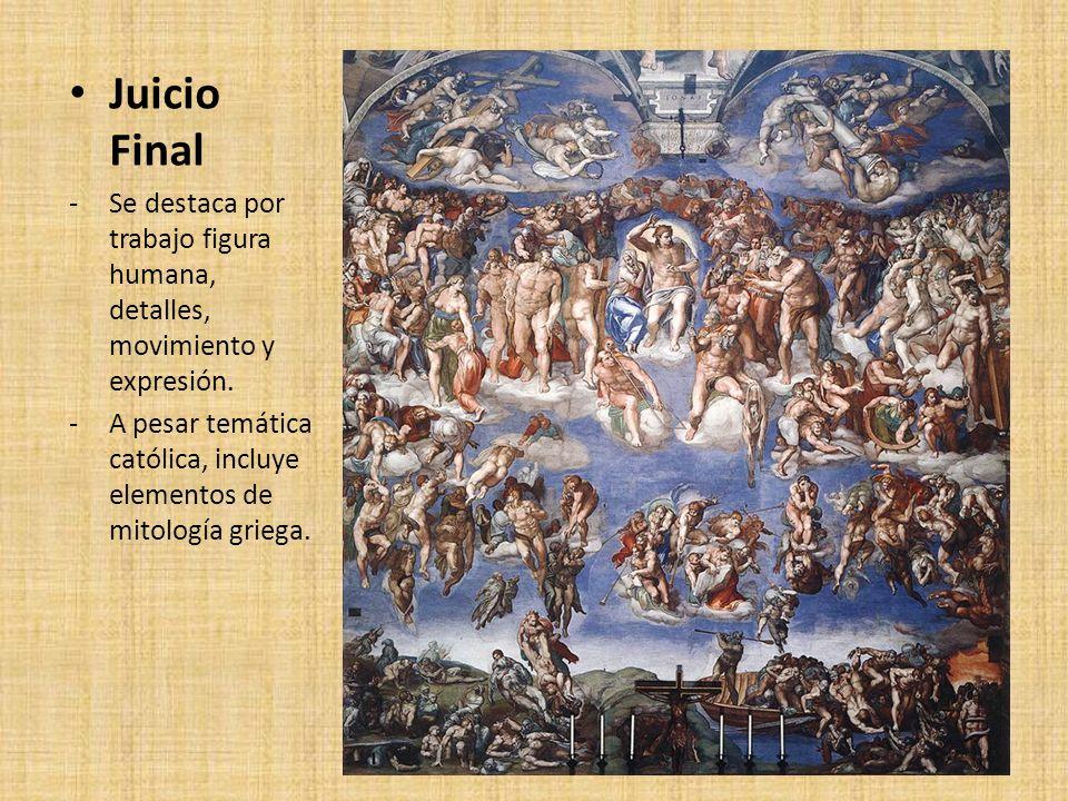 Juicio Final Se destaca por trabajo figura humana, detalles, movimiento y expresión.