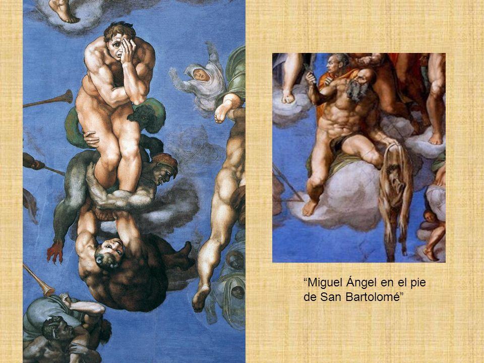 Miguel Ángel en el pie de San Bartolomé