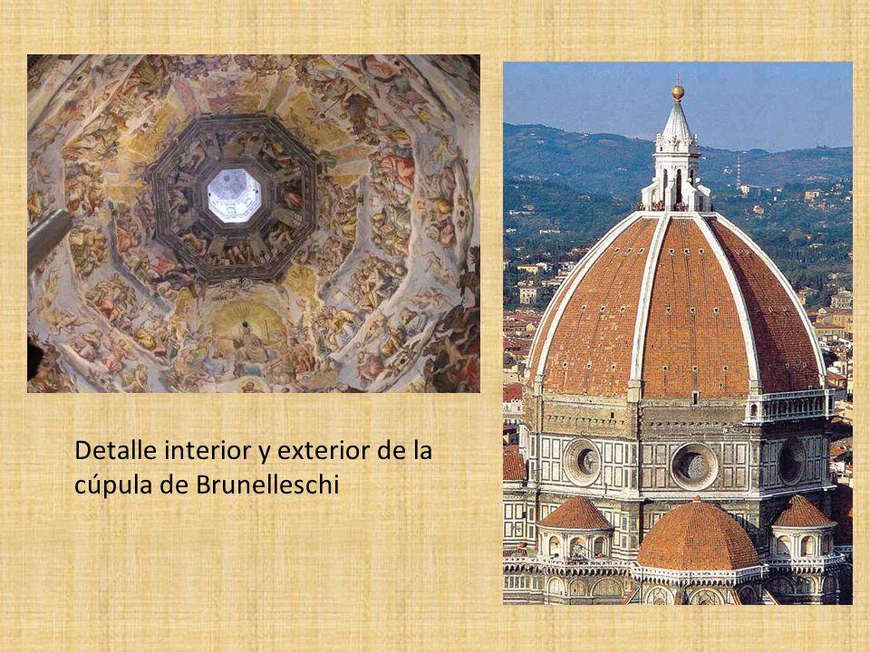 Detalle interior y exterior de la cúpula de Brunelleschi