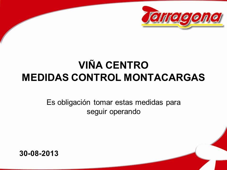 VIÑA CENTRO MEDIDAS CONTROL MONTACARGAS