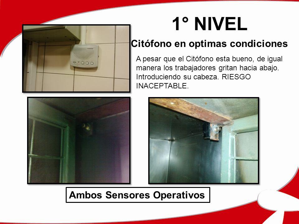 1° NIVEL Citófono en optimas condiciones Ambos Sensores Operativos