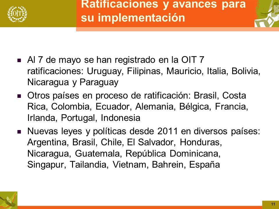 Ratificaciones y avances para su implementación