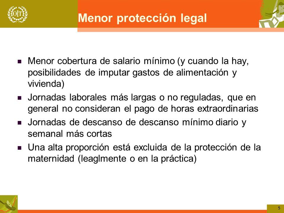 Menor protección legal