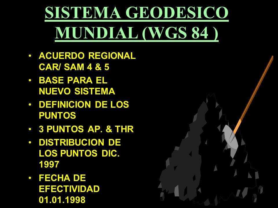 SISTEMA GEODESICO MUNDIAL (WGS 84 )