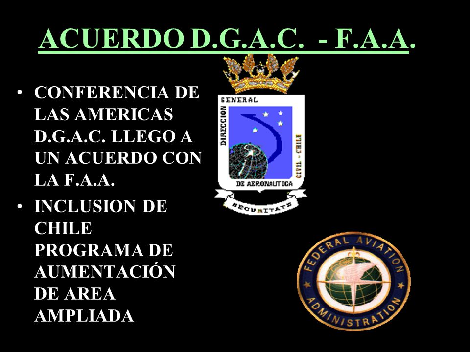 ACUERDO D.G.A.C. - F.A.A. CONFERENCIA DE LAS AMERICAS D.G.A.C. LLEGO A UN ACUERDO CON LA F.A.A.