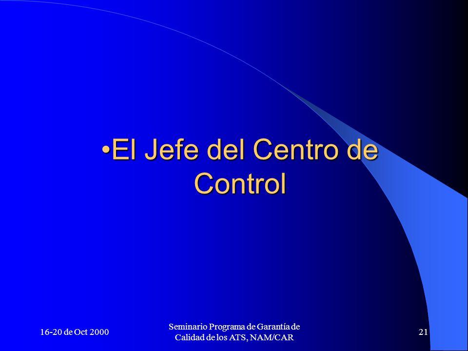 El Jefe del Centro de Control