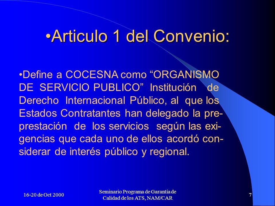 Articulo 1 del Convenio: