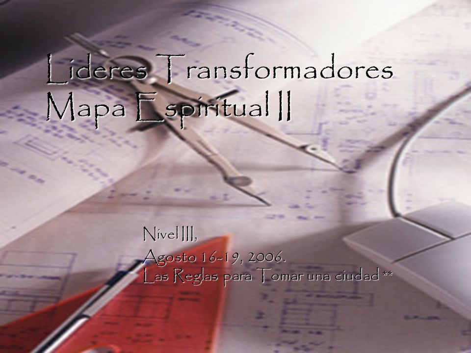 Lideres Transformadores Mapa Espiritual II