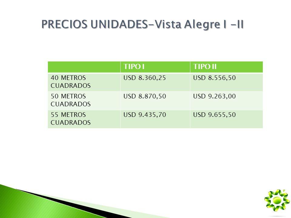 PRECIOS UNIDADES-Vista Alegre I -II