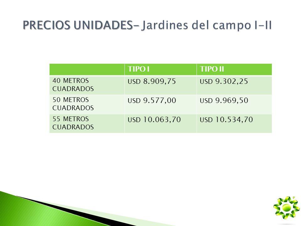 PRECIOS UNIDADES- Jardines del campo I-II