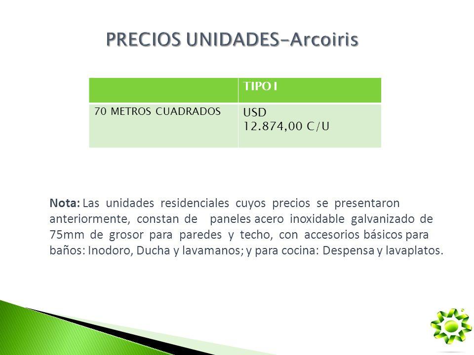 PRECIOS UNIDADES-Arcoiris