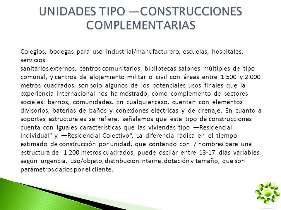 UNIDADES TIPO —CONSTRUCCIONES COMPLEMENTARIAS