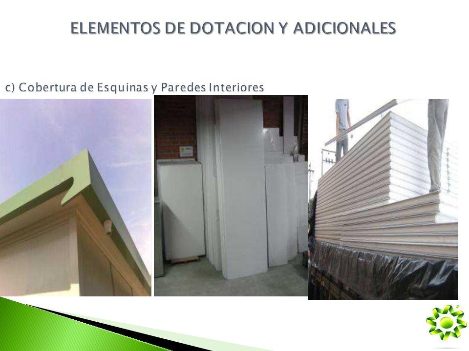 c) Cobertura de Esquinas y Paredes Interiores