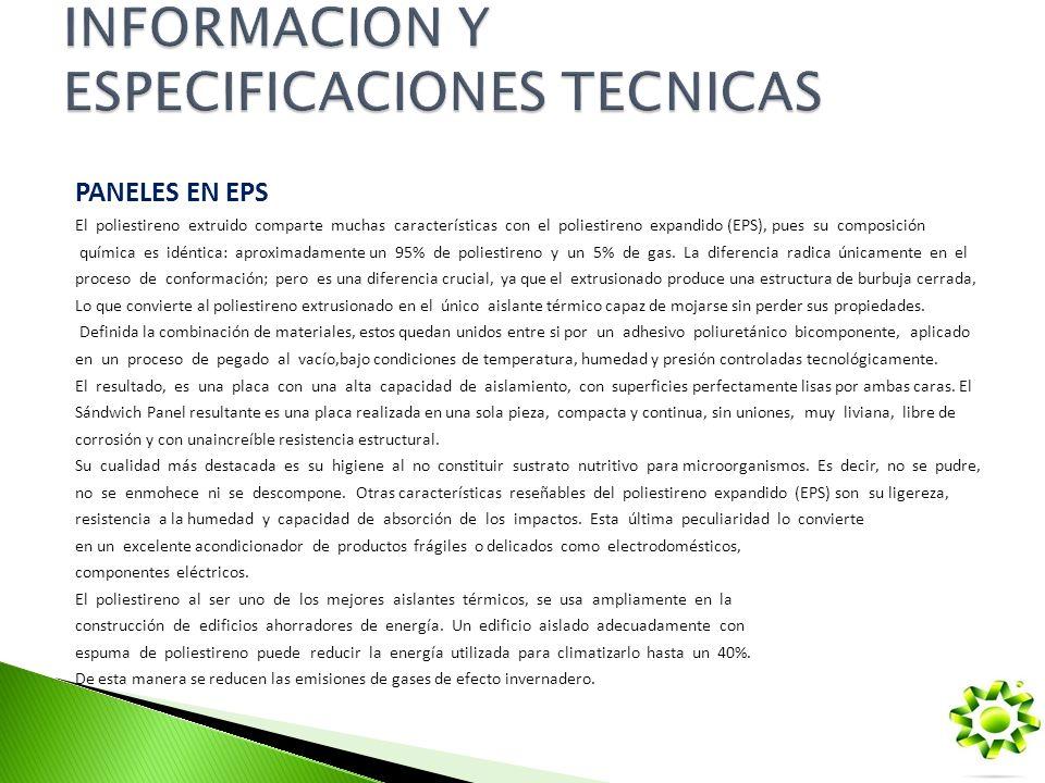INFORMACION Y ESPECIFICACIONES TECNICAS