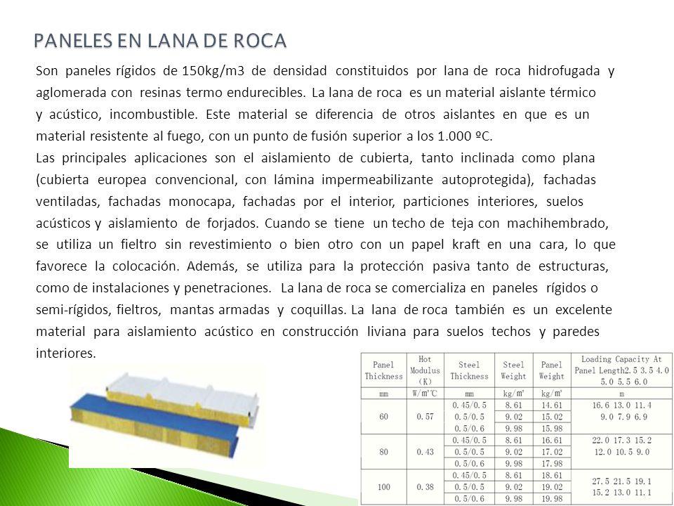 PANELES EN LANA DE ROCA