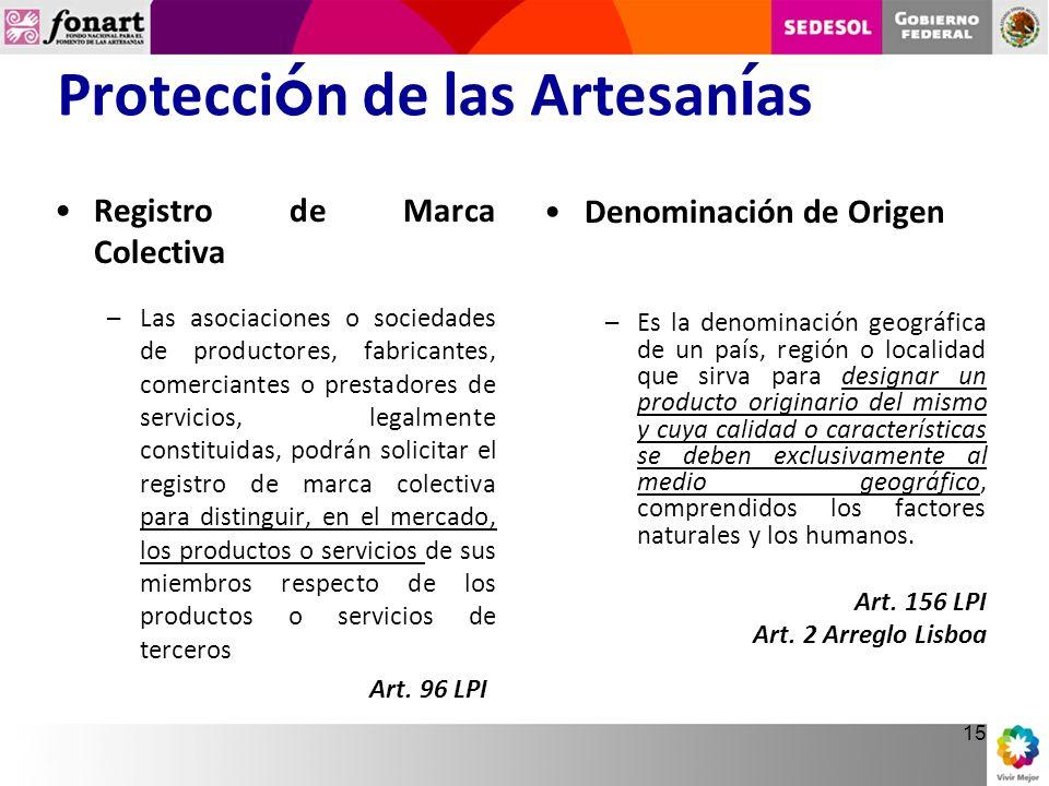 Protección de las Artesanías