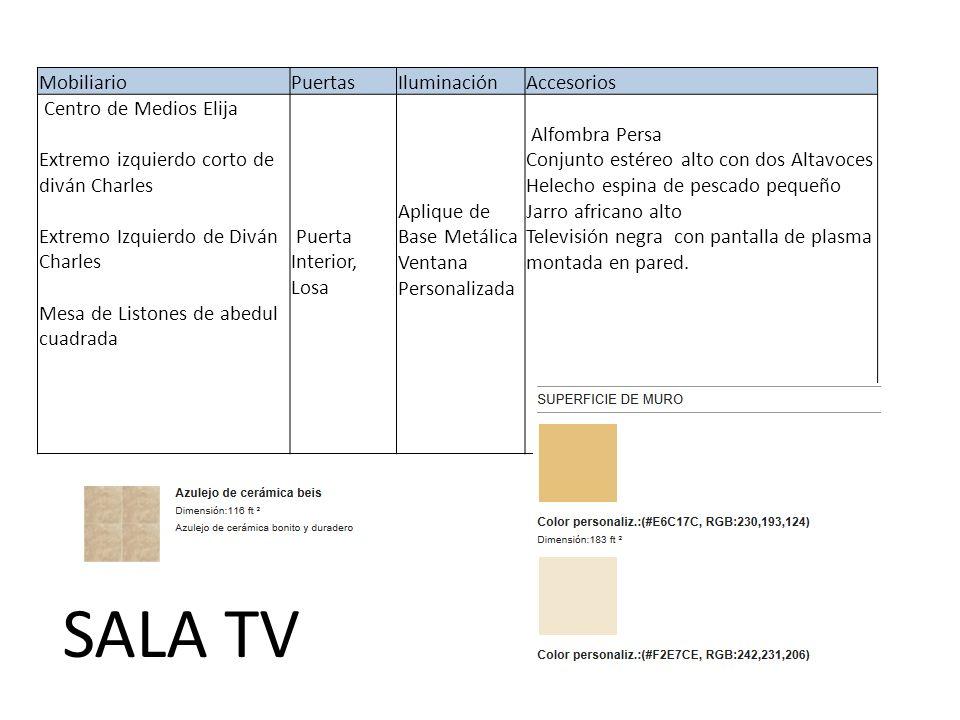 SALA TV Mobiliario Puertas Iluminación Accesorios
