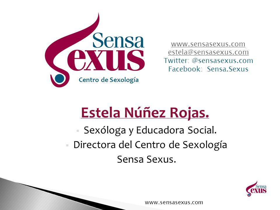 Estela Núñez Rojas. Sexóloga y Educadora Social.