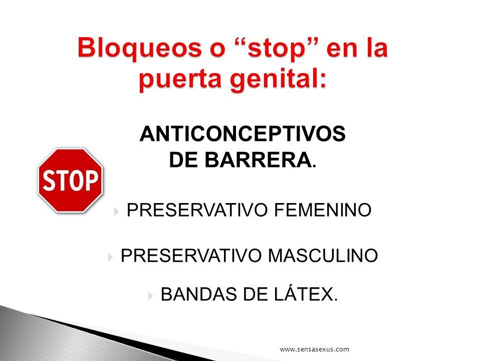 Bloqueos o stop en la puerta genital:
