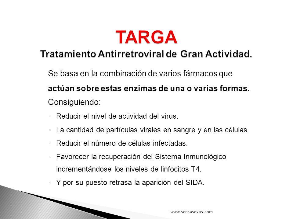 TARGA Tratamiento Antirretroviral de Gran Actividad.