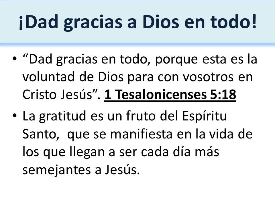¡Dad gracias a Dios en todo!