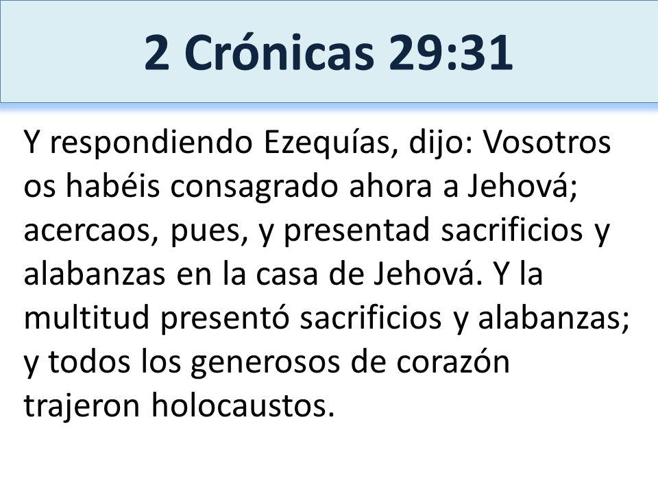 2 Crónicas 29:31