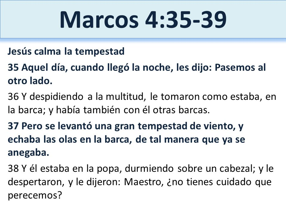 Marcos 4:35-39