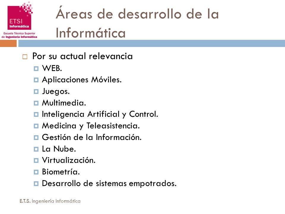 Áreas de desarrollo de la Informática