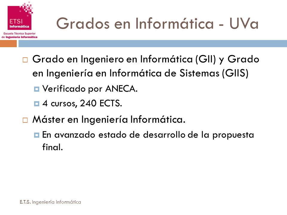 Grados en Informática - UVa