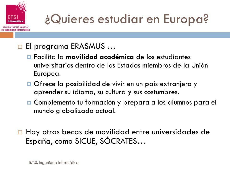 ¿Quieres estudiar en Europa