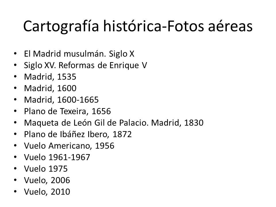 Cartografía histórica-Fotos aéreas